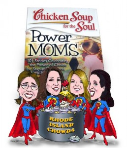 Here are the RI Power Moms and Contributors to the Chicken Soup Book: Erin Barette Goodman, Robin Kall, Kimberly Beauchamp and me (left to right)