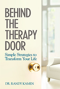 book cover behind the therapy door