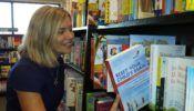 book photo author in bookstore