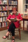 Author Helen Deines reading from her book