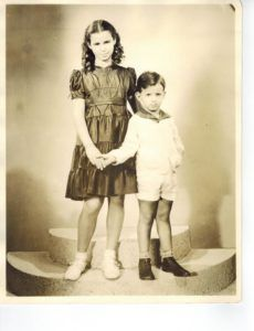 Martin Tener child and sister Renee