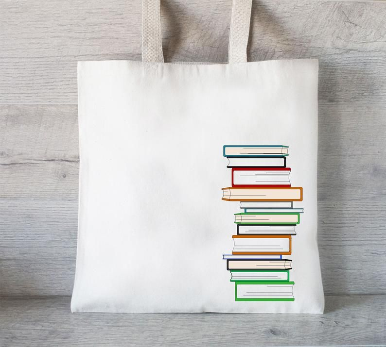 book tote bag gift for writers
