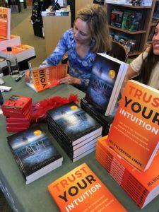 Jill Sylvester signing her award winning book