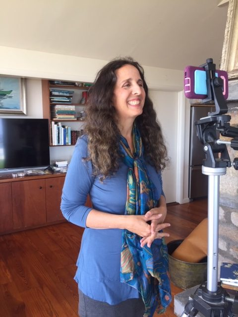 Lisa Tener recording inspiring video