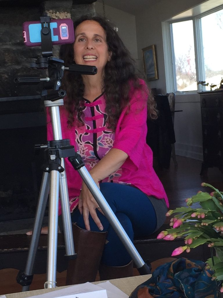 Lisa Tener recording video